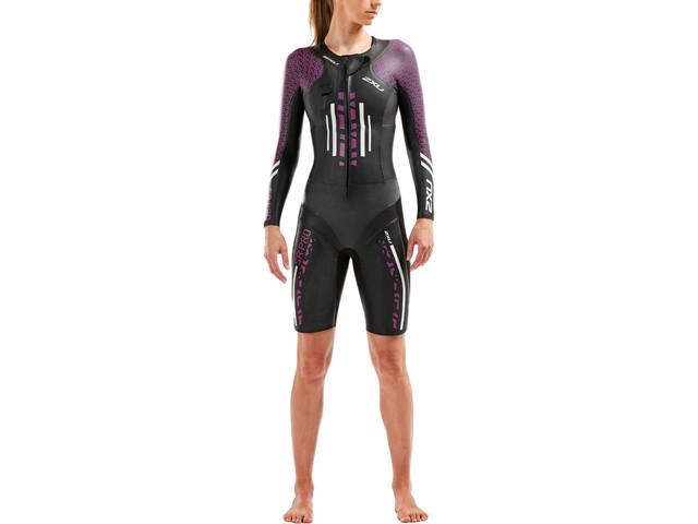 2XU SR:Pro-Swim Run Pro Wetsuit Dame Black/Flame scarlet